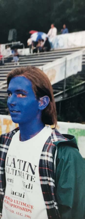 Carter Robinson throws himself into homecoming and becomes one with the spirit of the Hawks in 1996.