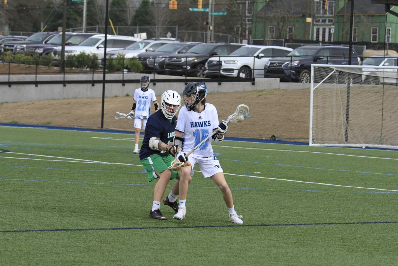Wilkes Dolan '22 prepares to dust the Legion Collegiate defender that has foolishly challenged him to a 1 on 1. PC: St. Johns Photography, 2020.
