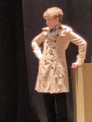 Robby Gette, '24, in a past production at his old school.
