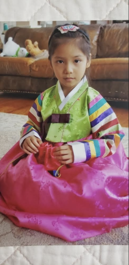 Picture of Hailey Kim when she was younger on Chinese New Year